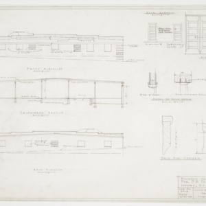 Elevations, sectional elevations and door details