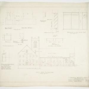 Left side elevation and blackboard details