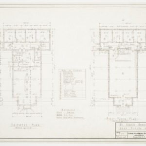 Basement and first floor plan