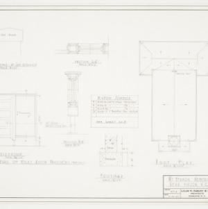Door elevation and roof plan