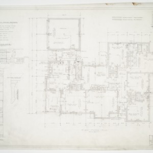 First floor plan and cabinet details
