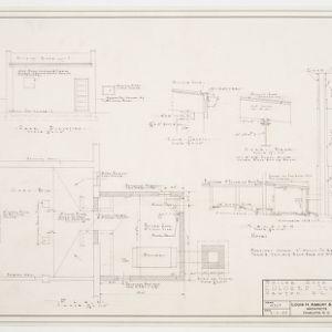 Boiler room floor plan, elevation and details