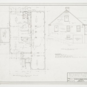 Basement Plan and Rear Elevation