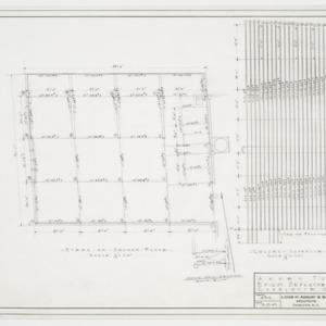 Steel on Second Floor, Column Schedule