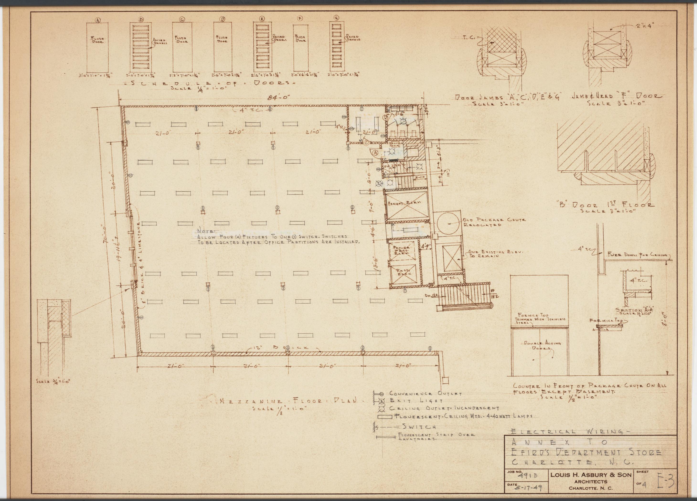 Mezzanine Floor Plan Efird 39 S Department Store Charlotte