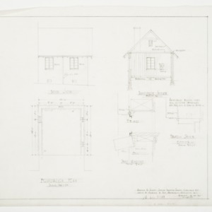 Foundation Plan, South Elevation, Transverse Section and Details