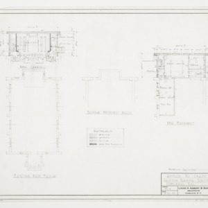 Existing Main Floor and Basement Plans and New Basement Plan