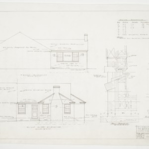Elevations, Wall Section, and Window Detail