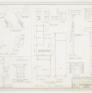 Details of Cabinets, Stairs, and Cornices