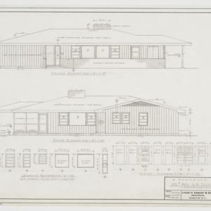 Front and rear elevations and window and door schedules