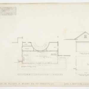 Door schedule, existing screen porch plan and garage plan and elevation