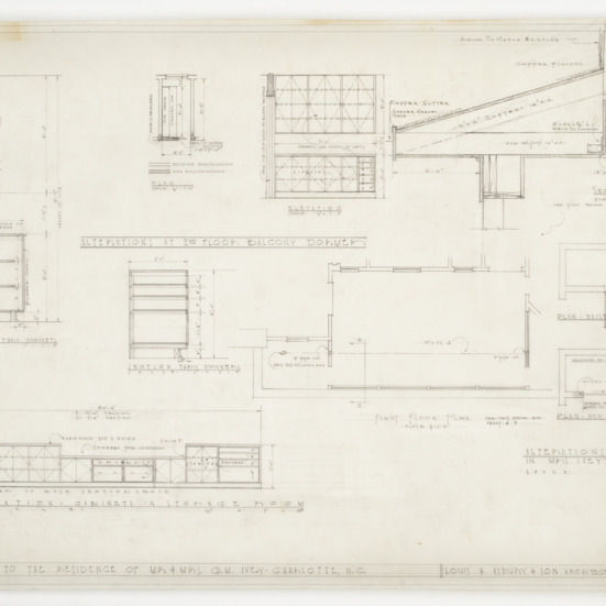 Cabinet and dormer elevations sections
