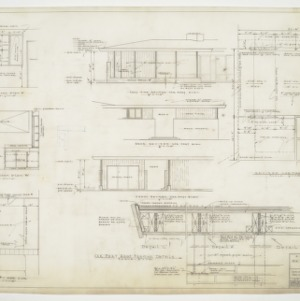 Bathroom and carport floor plans, elevations and sections