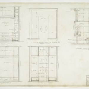 Closet elevation, floor plans and sections