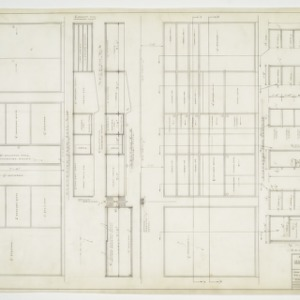 Cabinet elevations and sections