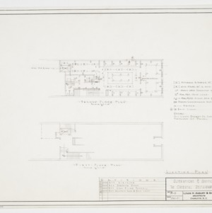 First and second floor plans and lighting plan