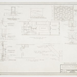 First and second floor plan and grill elevation and details
