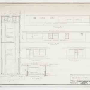 Floor plan, elevations and sectional elevation