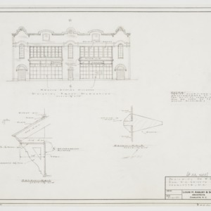 Existing front elevation and bracket details