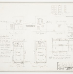Floor plans, elevations and sectional elevations