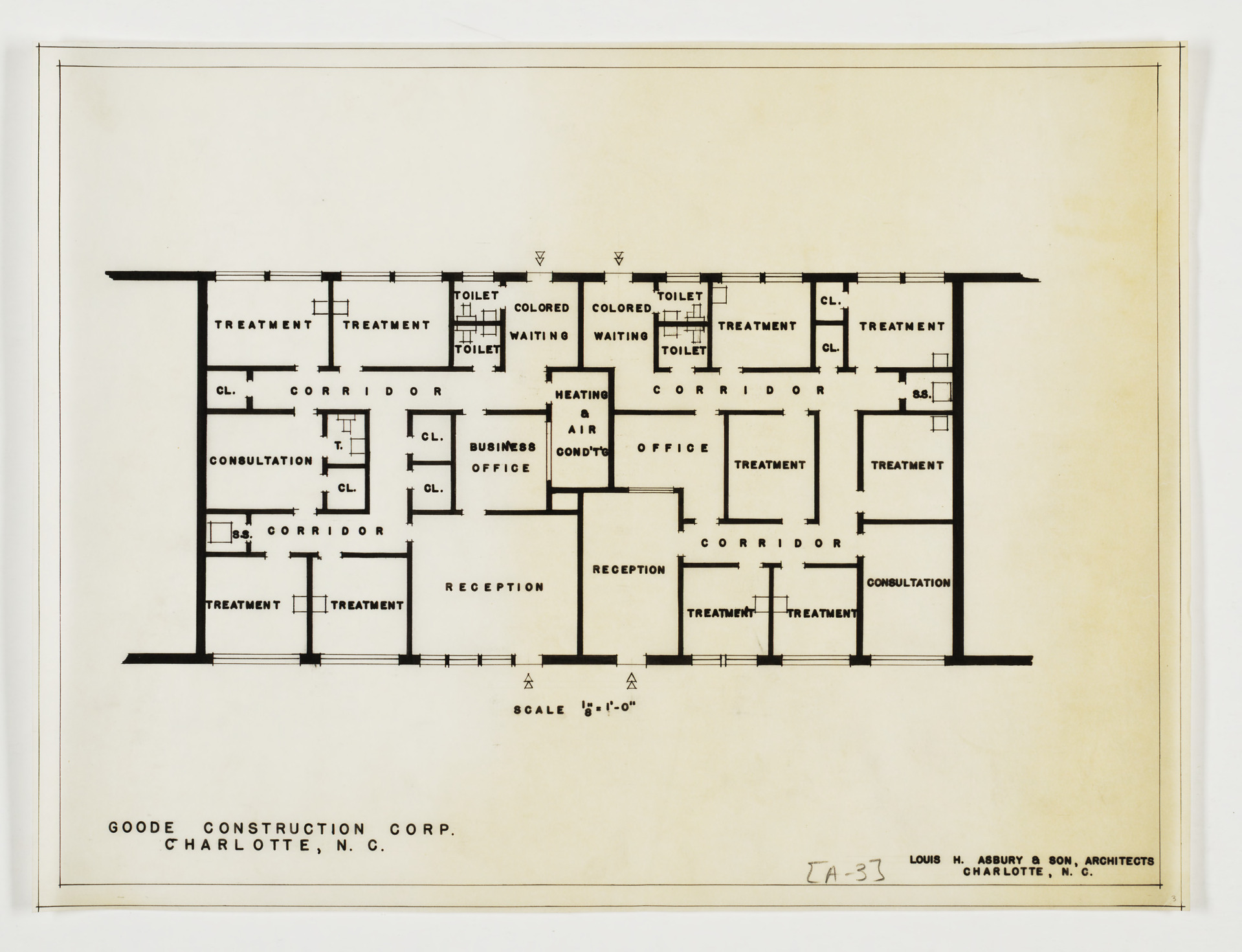 Floor Plan Goode Construction Company Office Building