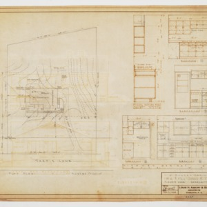 Site plan and kitchen elevations
