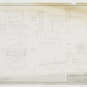 Detail drawings for organ loft alterations