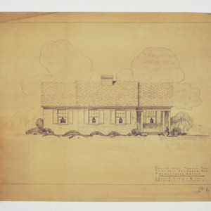 Front Elevation, Preliminary Sketch