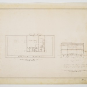 Basement Plan and Transverse Section