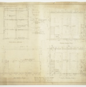 Basement Plan, First Floor Plan, Transverse Section and Section Plan