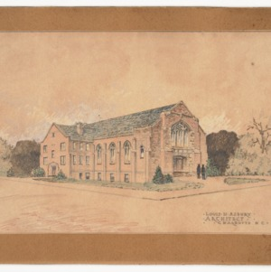 Rendering of exterior elevation
