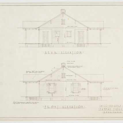 Rear and front elevation