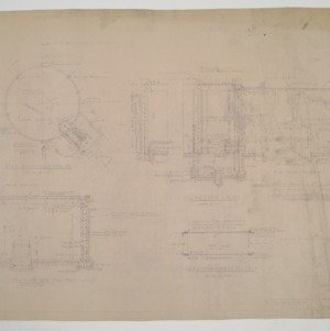 Reservoir and pump room sectional elevations