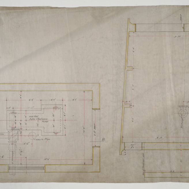 Pump room floor plan