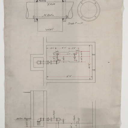 Pump room foundation plan