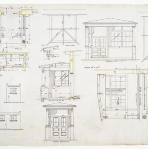 Entrance hall elevations and floor plan